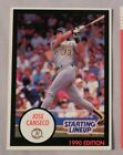 1990 Starting Lineup Jose Canseco A's Baseball Card