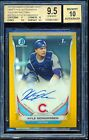 2014 Bowman Chrome Draft Kyle Schwarber Gold Refractor RC Auto 2 50 BGS 9.5 10