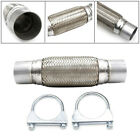 25 63mm Heavy Duty Universal Exhaust Flex Pipe Stainless Steel Double Braided