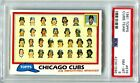 1981 Topps #676 Cubs Team PSA 8 NM-MT New Case Well Centered