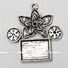 Lot Tibetan Silver Petunia Flower Photo Picture Frame Charms Pendant Finding US