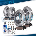 For 2006 2010 Infiniti M35 M45 DRILLED Front Rear Rotors and Ceramic Brake Pads