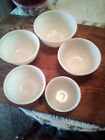 Ivory Swirl Fire King Mixing Bowls 5 piece set - Very Nice