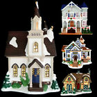 LEMAX PORCELAIN LIGHTED CHRISTMAS VILLAGE CHURCH / COTTAGE & HOUSES YOUR CHOICE!