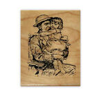 Daddy or Grandpa  little girl mounted rubber stamp Fathers Day people CMS1