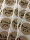 20 Circle Shaped Thank you Stickers Kraft Paper DIY Gift Envelope Sealing