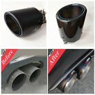 Sport 63mm 101mm Carbon Fiber Auto SUV Exhaust Tip Pipe Muffler Trim Tail Tip