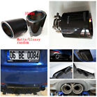 100 Genuine Carbon Fiber Car Exhaust Tip Muffler Pipe 63mm Inlet 101 mm Outlet
