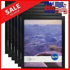 Set of 6Black Picture Frames Home Decor Mainstays 8 x 10 Photo Linear Frame