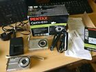 2 x Pentax Optio Digital Camera L60 & E60 10.1mp both tested and working