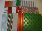 6X6 CHRISTMAS GLITTER PAPER SCRAPBOOK CARDS CRAFTS ART colored snowman trees