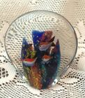Vintage Art Glass Coral Reef 6 Fish Aquarium Sculpture Paperweight by Murano