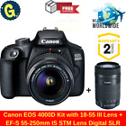Canon EOS 4000D Twin Kit with 18-55 III & EF-S 55-250mm IS STM Lens Digital SLR