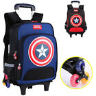 Captain America Kids Boys Backpack Trolley Wheeled School Bags Travel Suitcase