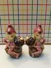 Vintage Fairies Pixies  Salt  Pepper Shakers  Made in Japan  Collectible