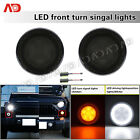 LED TURN SIGNAL LIGHT DRIVING LAMP SMOKE FRONT GRILL FOR JEEP WRANGLER JK 07 17