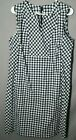 Womens size 12 linen cotton talbots dress check plaid tunic split neck pockets