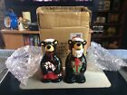 NEW Big Sky Carvers Ma and Pa Bears Christmas Salt  Pepper Shakers in Box 50022