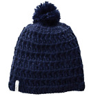 Coal Women's Hand-Crocheted Waffle-Knit Beanie with Pom