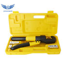 10 Ton Hydraulic Crimper Crimping Tool w 8 Dies Wire Battery Cable Lug Terminal