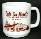 VINTAGE CAFE' DU MONDE -RESTAURANT ADVERTISING GLASBAKE COFFEE MUG -NEW ORLEANS!