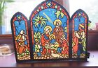 1930s GERMANY CHRISTMAS NATIVITY SCENE LARGE COLORED STENCIL UNDER DIECUT
