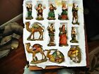 SET OF 12 USED CHRISTMAS NATIVITY FIGURINE COLLECTION DILLARDS TRIMMING RESIN
