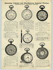 1908 PAPER AD Guinands Minute Repeater Pocket Watch Hunting Case Open Face