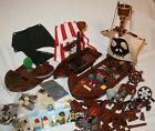 LEGO Pirate Ship Boat Hull & Minifigure Bulk Lot Parts Pieces