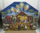 2012 Nativity Advent Calendar Box Wooden Traditions by Byers Choice