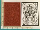 SUGAR SKULL Day of the Dead Red Rubber Stamp U pick Size Mounted Unmtd Cushioned