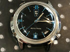 Vintage Bulova Accutron men's wristwatch rare blue dial up and down date 2182