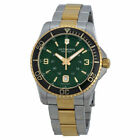NWT Victorinox Swiss Army 241605  Maverick Watch Green Stainless Steel  gold