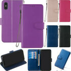 Colorful Wallet Magnetic Leather Card Flip Strap Stand Case Cover For Phones