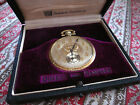 Antique Dueber Hampden 14K Yellow Gold 17 Jewel Open Face Pocket Watch Size 12s
