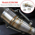 Z250 300 Motorcycle Exhaust Middle Pipe Link Muffler Mid Section Adapter Parts