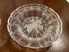 Vintage EAPG Carousel Horse Bowl Frosted Pressed Glass Intaglio