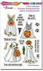 Stampendous Perfectly Clear Stamp Set Lick My Feet Dog Halloween