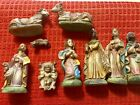 Vintage PRESEPIO CRECHE Nativity Set w Box Made in Italy 9 pcs Very Detailed