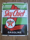 "Old Texaco Sky Chief 16"" X 13"" Porcelain Advertising Sign"