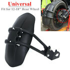 12-18'' Motorcycle Rear Wheel Fender Bracket Mudguard Protector Splash Guard PVC