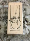 NEW Stampendous N103 Jolly Snowman Rubber Stamp