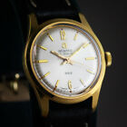 NEW 1960S VTG GOLD PLATED MID SIZE 28MM MECHANICAL WATCH 362 ATLANTIC 21J NOS