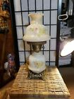 Gone With the Wind Hurricane Lamp Floral WORKING Beautiful Design