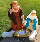 Santas Best Outdoor Nativity Manger Scene Christmas Blow Jesus Mary Joseph