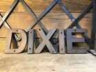 Dixie Gas Oil Can Cast Iron Sign Jar Pump Station Gulf Texaco Visible Porcelain