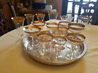 Mixed Lot 15 Gold Encrusted Stemware