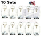 10 Sets 17mm Motorcycle Quick Release D-RING 1/4 Turn Race Fairing Fasteners New