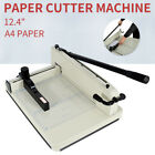 Heavy Duty Guillotine Paper Cutter 124 Commercial Trimmer Metal Base A4 Paper