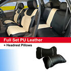 Bk Tan 100 PU Leather Cushion 5 Seats Front Rear for Jeep 80255